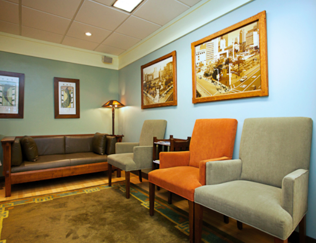 Union Square Dermatology waiting room
