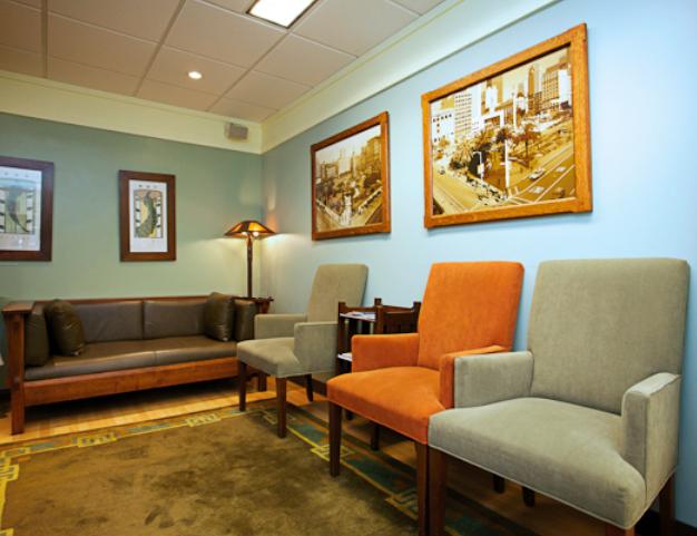 Union Square Dermatology waiting room